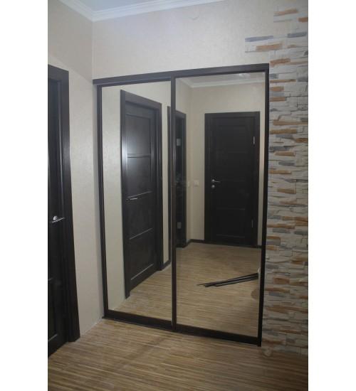 2 Двери купе в проем 1200х2500 с зеркалом
