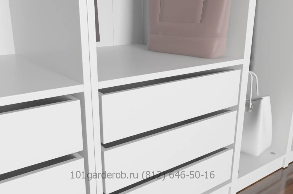 Фото гардеробной выдвижные ящики 101garderob.ru